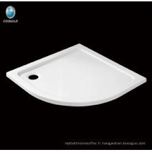 Hot salle de bain Secteur Corner acrylique Receveur de douche