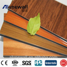 20 year guarantee wood series PE/ PVDF coating alunewall aluminum composite panel Chinese manufacturer