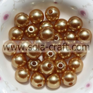 DIY Jewelry Accessory Wholesale 6mm Loose Faux Pearl Beads Bulk Acrylic Pearl Beads Brown