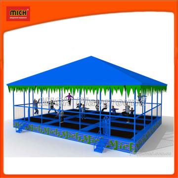 Parque de recreio de trampolim grande para adultos