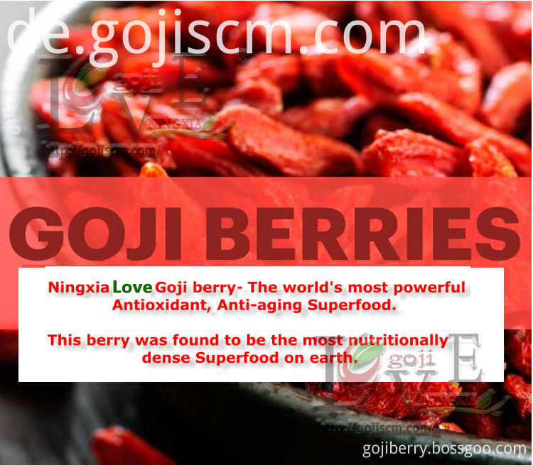 Healthy Certificate Goji Berry description
