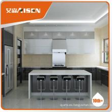 Garantía de comercio razonable y confiable proveedor de gabinete de cocina de Hangzhou, 2016 venta caliente gabinete de cocina de alto brillo