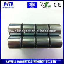 Grandes ímãs de neodímio de cilindro com revestimento de zinco