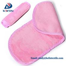 China manufacturer light pink microfiber makeup remover face towel