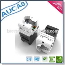 AMP systimax cat6 UTP 8p8c rj45 module/Dual IDC 90 degreejack module/cat6e keystone jack network module