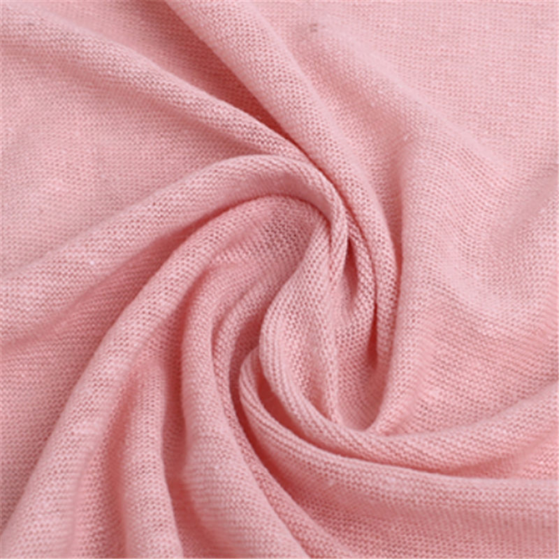 Breathable Knitted Coarse Jersey Linen Clothing Fabric (3)