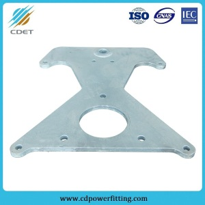 Power Line Fitting HDG Steel Towing Plate