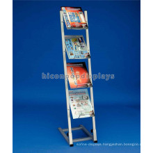 China Manufacturer 4-Layer Metal Display Factory Free Design Floor Standing Brochure Book Display Shelf