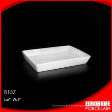 Eurohome producto hogar o restaurante hueso china placa rectangular