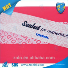 Professional Kundenspezifisch bedruckbare Sicherheitslücke -Label