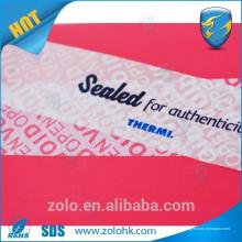 Profissional material imprescindível de segurança para impressão personalizado - rótulo