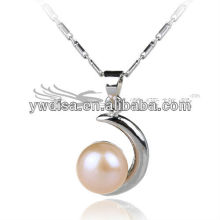 2013 Newest Girls Attractive Freshwater 8mm Pear Drop Pendant Necklace Fashion Wholesale