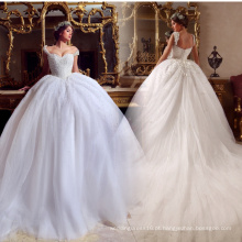 LL060 Beading de luxo 2017 Vestidos de casamento Ball Gown Appliques Lace robe de mariage Tulle vestido de noiva princesa Bridal Gowns