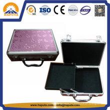 Алюминиевый футляр для макияжа нового дизайна с одним лотком (HB-2005)