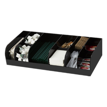 10 Compartment Breakroom Condiment Organizer