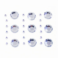 Silver Self Adhesive Round Edelsteine ​​Sortiment