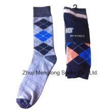 Buena calidad hombre clásico vestido calcetines de algodón
