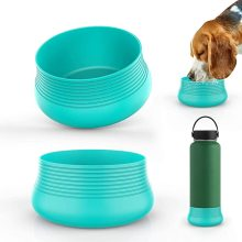 Protective Silicone Flex Boot Travel Pet Bowl