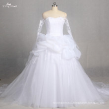 LZ178 Special Empire Lace Wedding Dress Bridal Gown Long Sleeve