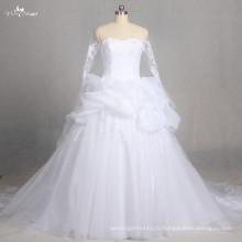 LZ178 особая Империя кружева свадебное платье свадебное платье с длинным рукавом