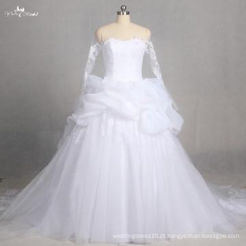 LZ178 Special Empire Lace Vestido de casamento Vestido de noiva Manga comprida