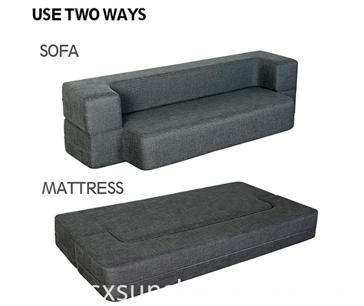 Folding Sofa Dark Gray Queen