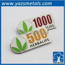 benutzerdefinierte Qualität Pin und Abzeichen mit weichen Emaille und Metall-Finish