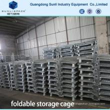 Caixa de malha de arame de gaiola de armazenamento dobrável