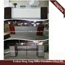 (HX-5N428) Mahogany Color Reception Counter Table Wooden Melamine Office Furniture
