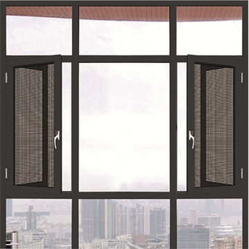 Aluminium Side Hinged Window with Fly Screen