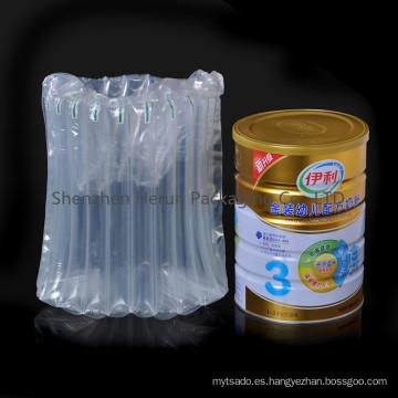 PA óptima Material bolsa de aire para embalaje leche en polvo puede
