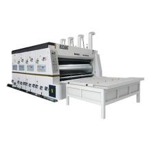Dongguang semi-auto corrugated carton boxes printing slotting machine machine  with stacker