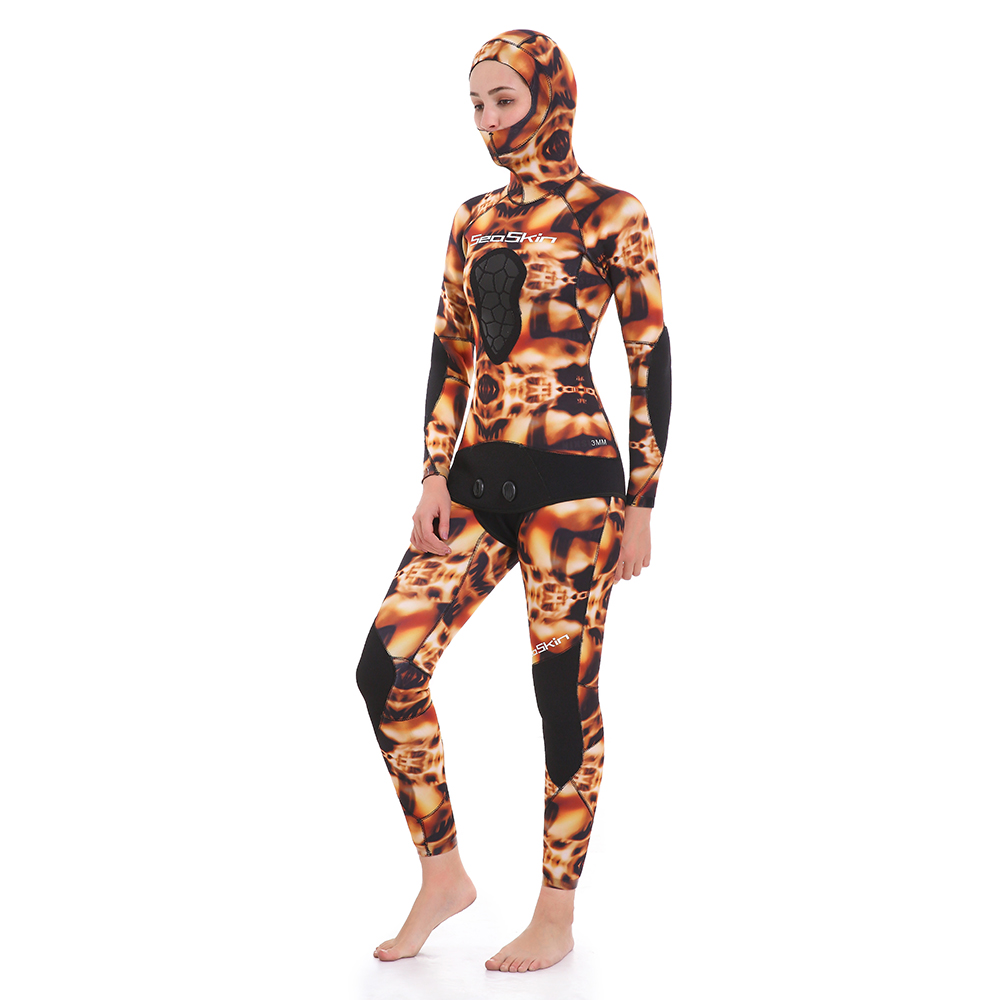 Seaskin Women Two Pieces Spearfishing Wetsuit