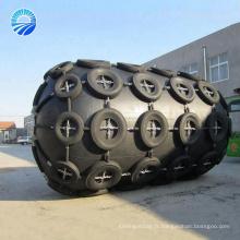 Chine Fournisseur Marine flottante pneumatique type Fender Ykohama avec la chaîne et le filet de pneu