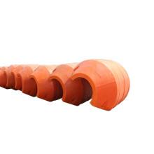 Flotadores de tubería de carcasa de polietileno para tuberías de dragado