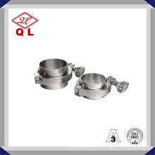 Acero inoxidable sanitario 304 316L Tri Clamp Pipe Clamp para equipos de procesamiento de lácteos