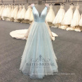 Factory wholesale light blue A-line Evening Dress 2017