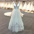 Factory wholesale light blue A-line Evening Dress 2017