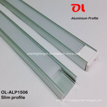 Profilé d'aluminium mince en aluminium anodisé Alp1506