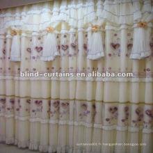 Rideau de tissu jacquard noble coloré