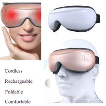 Masseur d'yeux portable sans fil pliable avec musicothérapie