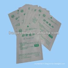 Sachet de papier de stérilisation médicale d'écouvillon de gaze