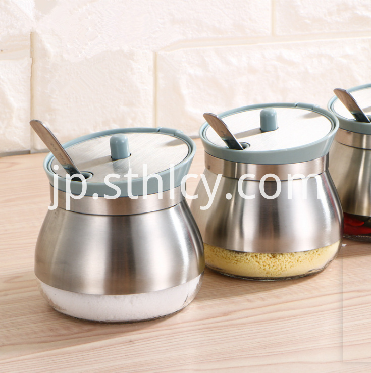 Stainless Steel Seasoning Jar1