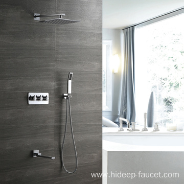 HIDEEP Three Function Bathroom Tubs Showers Faucet