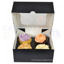 Take Away Food Packing Folding Paper Cupcake Box
