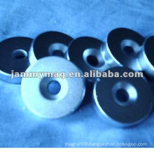ndfeb shallow magnetic pot with shining nickle coated