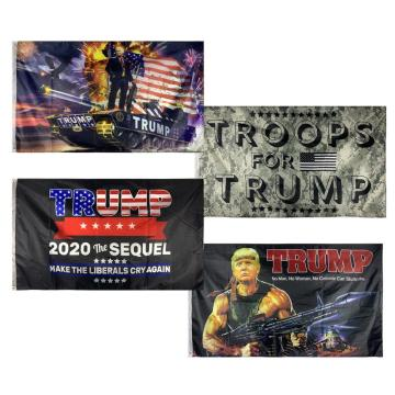 TRUMP Star Train Flaggen Banner