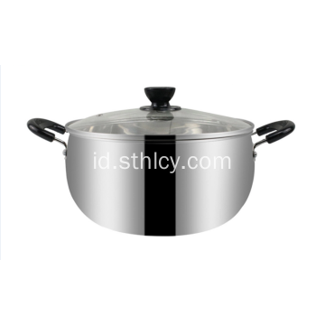 Stainless Steel Pot Tanah Liat India Memasak Hot Pot