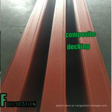 Revestimento plástico de madeira do composto WPC da coextrusão exterior