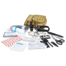 Outdoors tourniquet black tactical emergency first aid kit